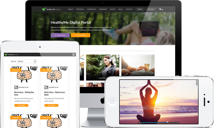 Screenshot of HealthyMe Digital on different devices